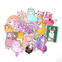 18 Pcs/set DMLSKY Alpaca Cute album sticker decals pvc Scrapbooking for phone luggage laptop Notebook DIY Acessories M3538