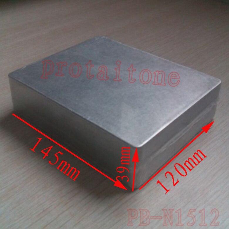 10 pcs PB-N1512 Professional DIY Aluminum Metal GUITAR EFFECT PEDAL BOX, 145 (L) x120 (W) x39 (H) mm 215 52 263 mm w h l aluminum extruded enclosures housing project box case