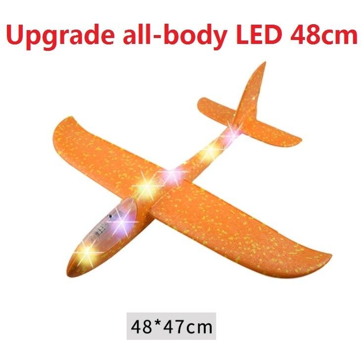 Avion en mousse EPP à inertie, jouet, modèle d'avion, amusant à l'extérieur, avec lancement à la main en LED, grande qualité, 48cm 5