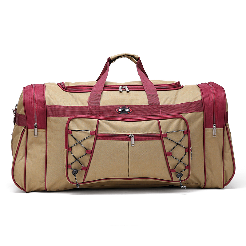 Brown Custom Durable Multi-Functional Travel Luggage Bag Duffle Bag Promotional Gift Bag