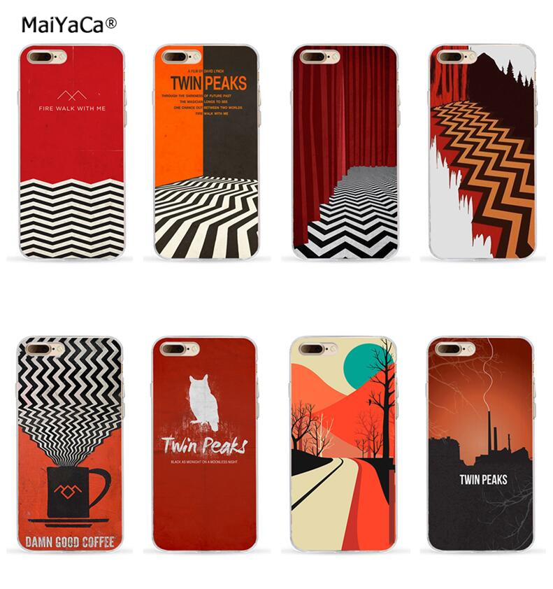 TV series twin peaks transparent full TPU phone case for iphone x 5s se 6s 6splus 7 7plus 8 8plus full silicone cover case