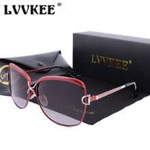 LVVKEE 2018 Brand Designer Polarized Sunglasses Women Popular Fashion Shades Sun Glasses UV400 Oculos De Sol Feminino With Case