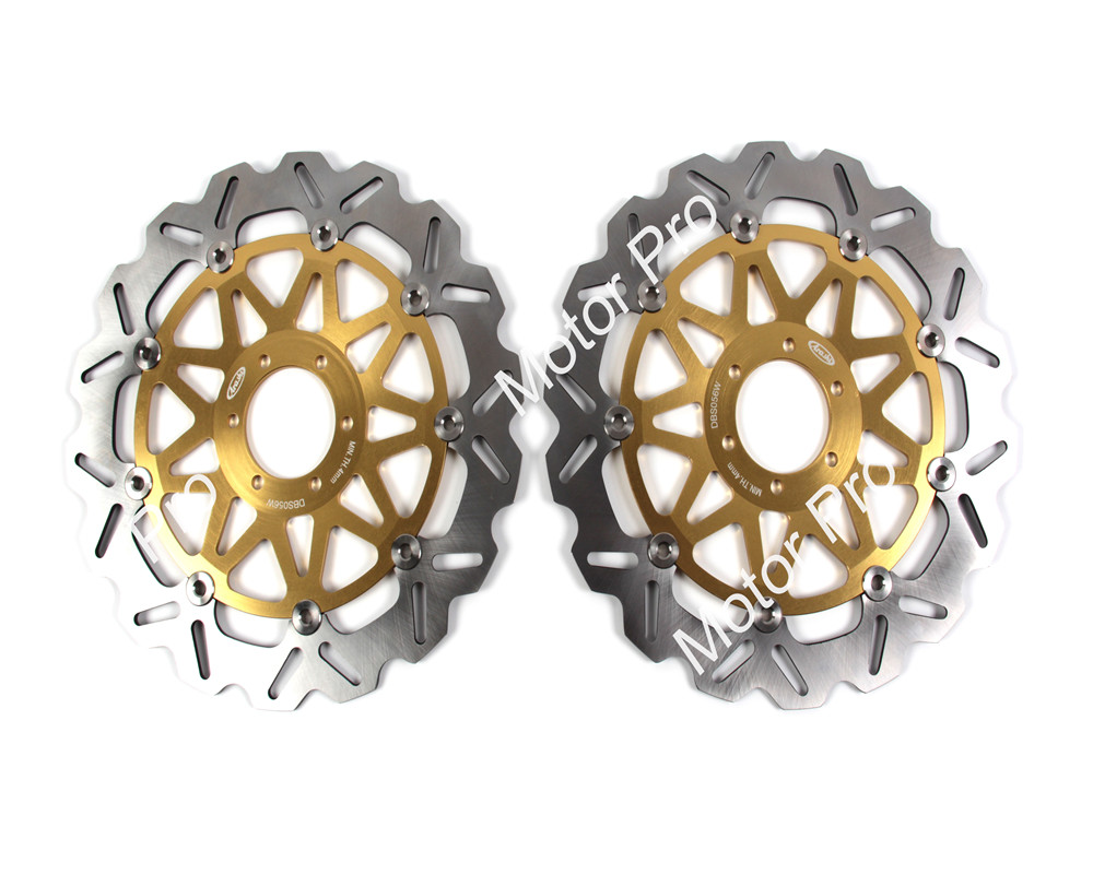 2 PCS CNC Motorcycle Front Brake Disc FOR DUCATI 916 BIPOSTO 1994 1995 1996 1997 1998 916 SPS aluminum alloy brake disk Rotor 2 pieces motorcycle front disc brake rotor scooter front rear disc brake rotor for honda cb400 1994 1995 1996 1997 1998