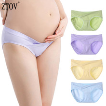 ZTOV 4Pcs/Lot Cotton Maternity Underwear Panties U-Shaped Low Waist Pregnancy Women Clothing Pregnant Underwear Briefs Pants XXL 4pcs lot cotton v shaped low waist maternity underwear cotton pregnant women underwear high elastic panties