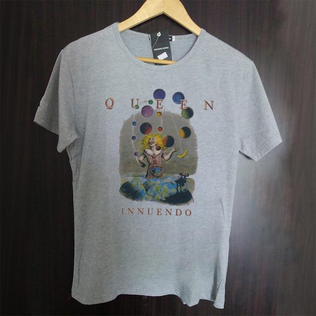 QUEEN Freddie Mercury metal style logo printing modal cotton t shirt vintage fashion