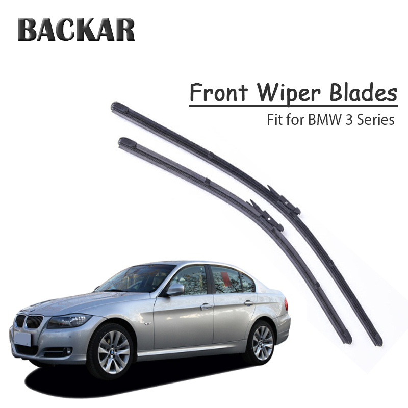 BACKAR Car Rubber Front <font><b>Windshield</b></font> <font><b>Wiper</b></font> Blade For <font><b>BMW</b></font> <font><b>F30</b></font> E46 E90 E91 E92 E36 E93 F31 <font><b>BMW</b></font> 3 Series Accessories image