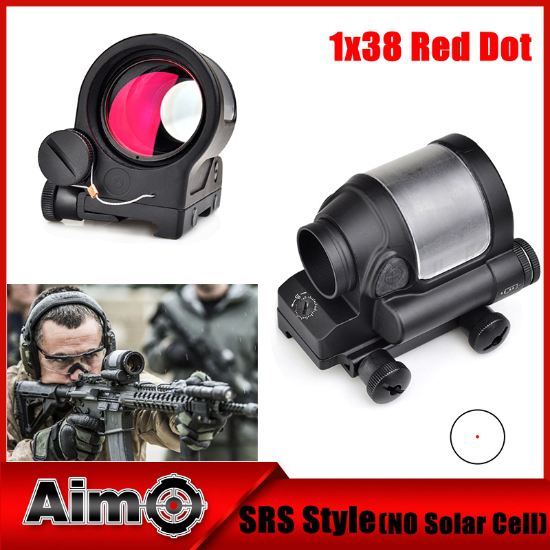 Aim-O Red Dot Tactical Hunting Sight Scope SRS Reflex 1x38 Iron Optics Riflescope For Airgun AO3040 aim o red dot tactical hunting sight scope srs reflex 1x38 iron optics riflescope for airgun ao3040