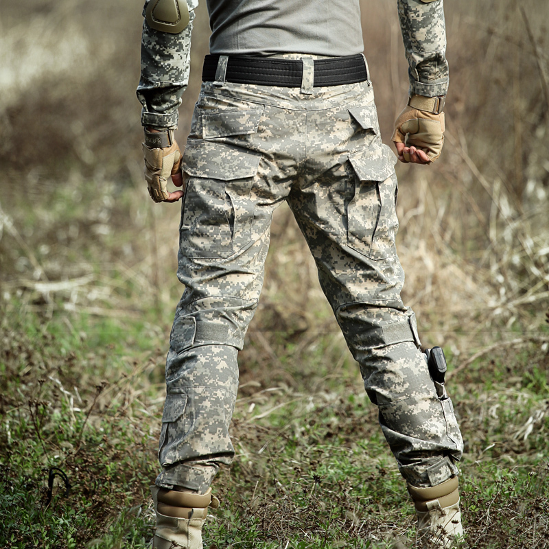 Tactical Camo Lastbyxor Knäkuddar Män Armé Militär Combat - Herrkläder - Foto 5