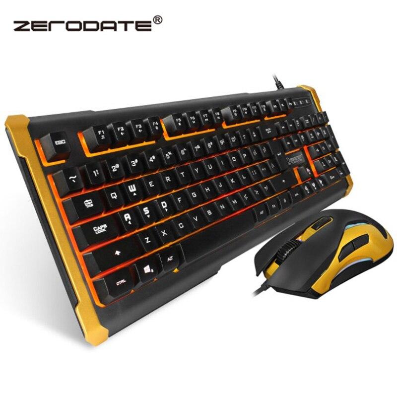 Filaire USB jeu souris clavier ensemble Suspension mécanique sensation clavier souris ensemble lumineux souris et clavier Suite Combos