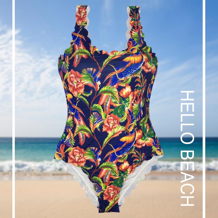 2017 Նոր տպագիր մեկ կտոր լողազգեստ - Սպորտային հագուստ և աքսեսուարներ - Լուսանկար 3