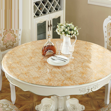home kitchen anti scald Dining waterproof crystal transparent soft glass oil proof round PVC cover mat table cloth placemat