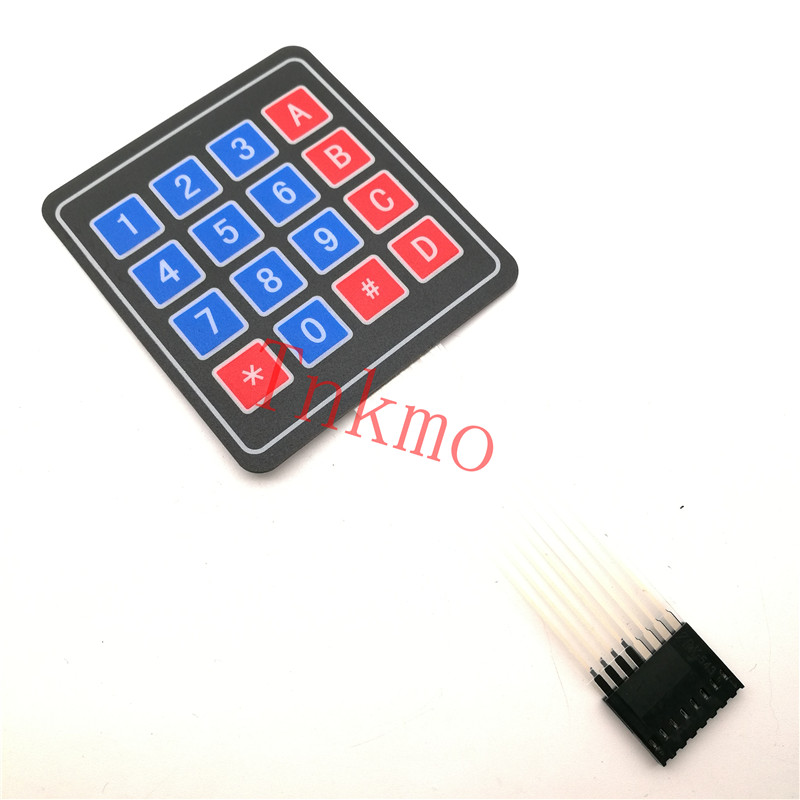 1PCS 16 Key 4 x 4 Membrane Switch Keypad 4x4 4*4 Matrix Array Matrix keyboard for arduino smart car universal 4x4 16 key matrix membrane switch keypad keyboard 76x69x0 8mm