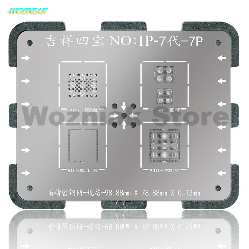 Wozniak WL NAND Chip de CPU BGA Reball Planta de estaño Acero Neto - Juegos de herramientas - foto 4