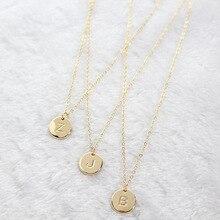 DIY крошечное Золотое первоначальное ожерелье, золотое серебряное ожерелье с буквами, ожерелье с инициалами, кулон для женщин и девочек, лучший подарок на день рождения