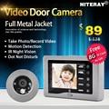 Suporte para o visualizador de câmera olho mágico da porta de gravação de vídeo motion detectando + função de campainha