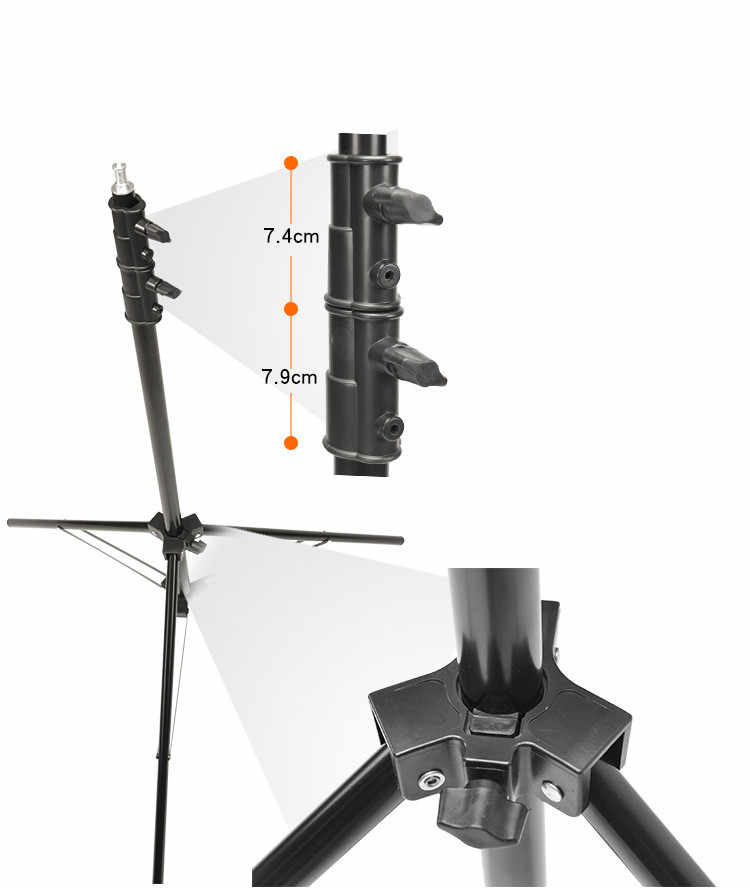 Фото поддержка вспышки штатив 2,8 м пружинный держатель лампы шок опора амортизатора CD50