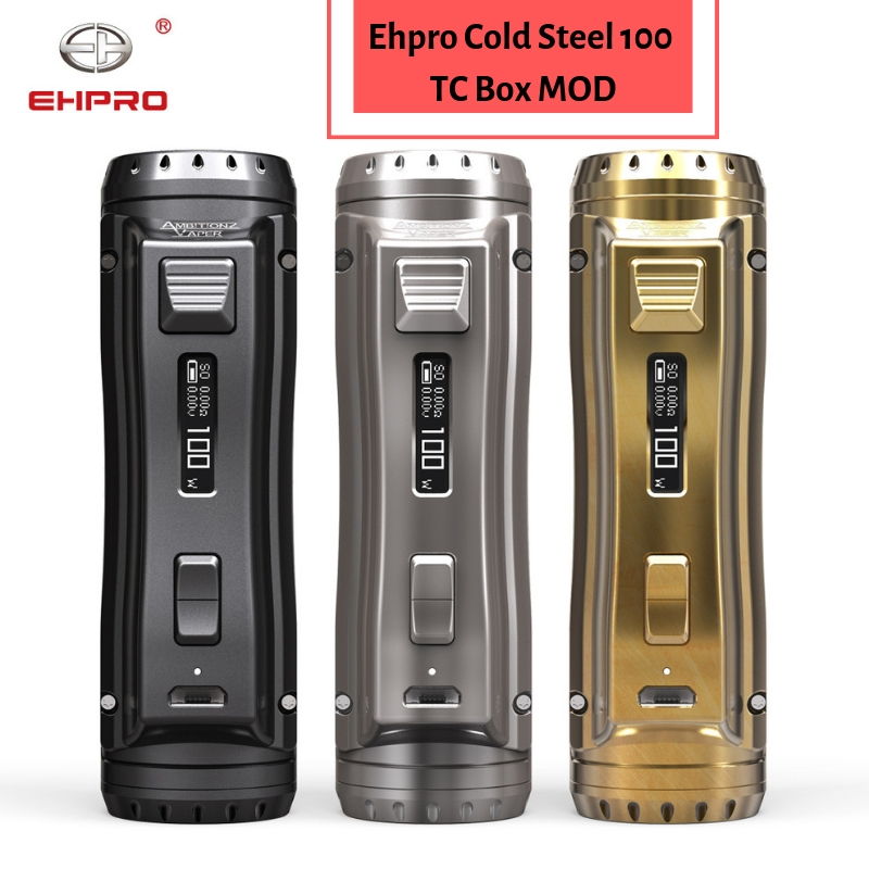 Newest Ehpro Cold Steel 100 120W TC Box MOD with 0.0018S Ultrafast Firing Speed & Online Software Update vs OBS /Drag 2(China)
