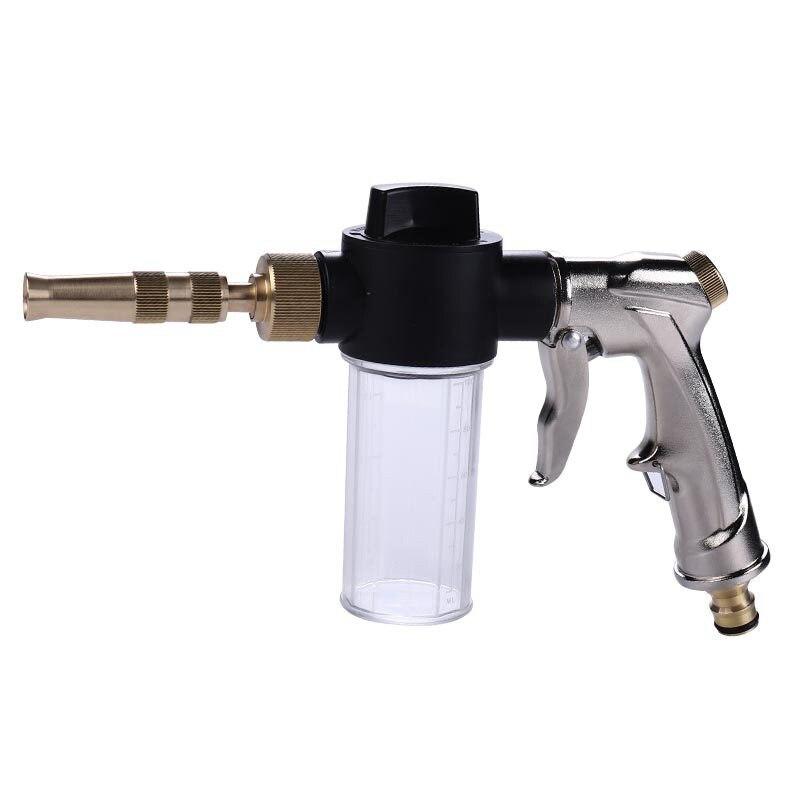 Electroplated Foam Gun Household Car Wash Flush The Ground Alloy High Pressure Water Gun Foam Gun Car Wash Water Gun