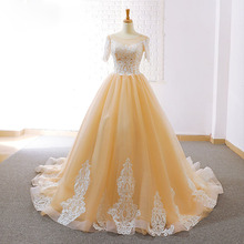 HIRE LNYER Short Sleeve Ball Gown Wedding Dresses With