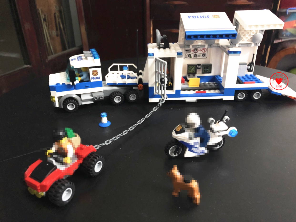 New City Police Station Mobile Command Center fit legoings city police figures Building Blocks bricks Toys boy 60139 gift kid