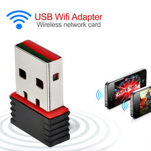 Mini 300 Mbps USB 2.0 WiFi Wireless Adapter การ์ดเครือข่าย LAN 802.11 ngb Ralink MT7601(China)