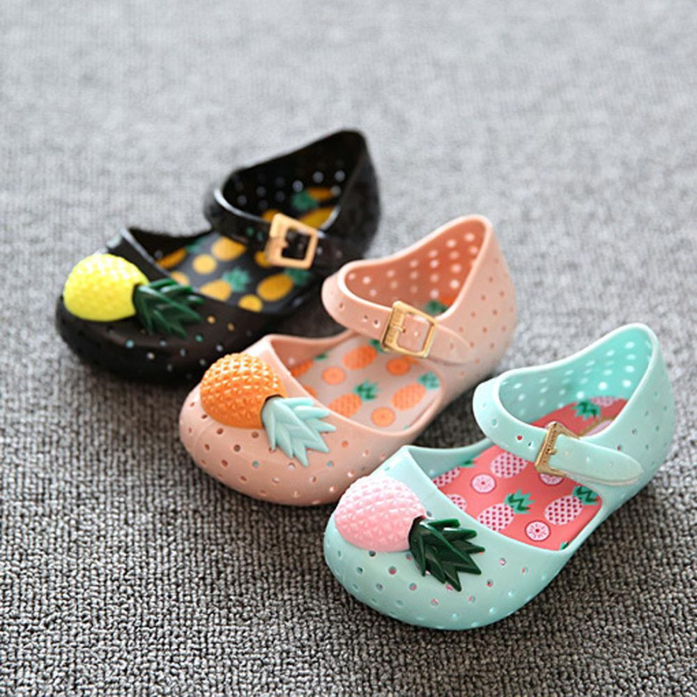 Summer Cute Pineapple Shoes Girls Sandals Mini