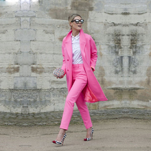 цена Fashion 2 Piece Set Women Business Suits Ladies Long Lenght Jacket Blazer Set Female Office Uniform Style Slim Elegant Pant Suit в интернет-магазинах