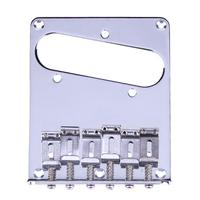 Telecaster Vintage Style Chrome High Quality 6 Saddle Adjustable Bridge For Tele For Electric Guitar Replacement