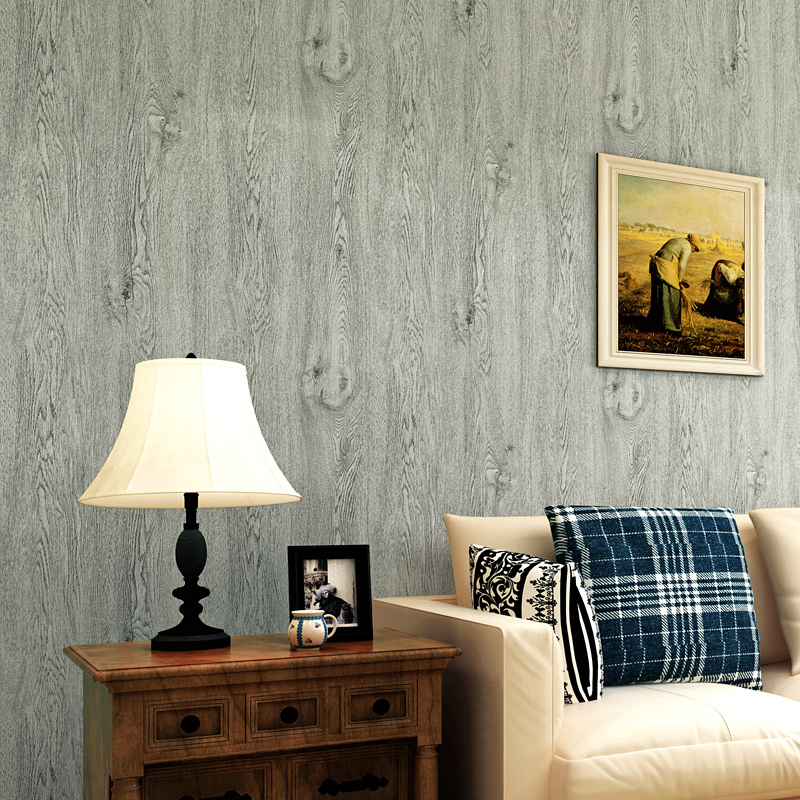 Mediterranean Style 3D Wallpaper Modern Imitation Wood Texture Wall Paper For Living Room Bedroom Background Decor Tapety