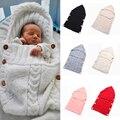 Niño Recién Nacido Bebé Swaddle Bebé Manta Suave de Punto de Ganchillo Wrap Saco de dormir