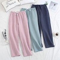 Women Sleep Trousers Winter Pajama Pants Thickened Air Layer Warm Women lounge Sleep Bottoms Pants