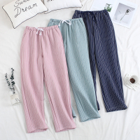 Women Sleep Trousers Winter Pajama Pants Thickened Air Layer Warm Women lounge Sleep Bottoms Pants