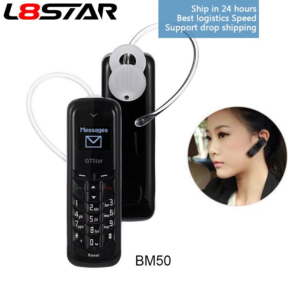 L8STAR Mini Kopfhörer handy GTSTAR BM50 Entriegelt Wireless Bluetooth Headset Dialer Dual SIM Karte Zifferblatt Mini Telefon BM10