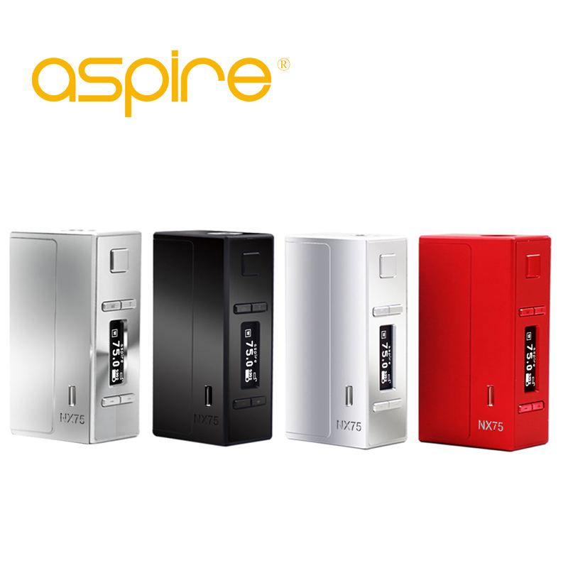 Aspire NX75 vape box mod 18650 vape mods 510 thread e cigarette mod box VW TC vaper mode for electronic cigarette e cig mod e cigarette mod aspire pegasus 70w tc box mod 0 86 inch display vaping mod fit rta rdta vape tank without 18650 battery mod