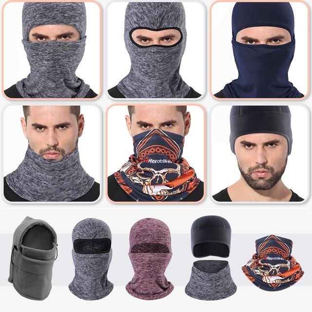 Motorcycle Mask Biker Winter Balaclava Motorbike Face Mask Skiing Cycling Riding Face Shield Headband Thermal Fleece Helmet Mask