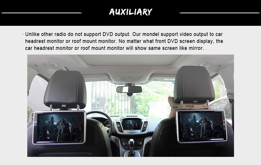 OTOJETA autoradio 2GB ram+32GB rom Android 6.0.1 car dvd player for Ford Fiesta 2015 2014 multimedia radio gps tape recorder