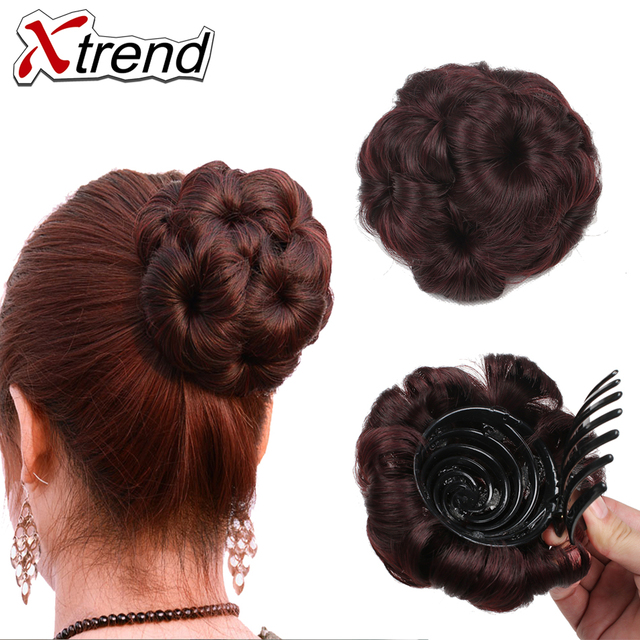 Xtrend Hair New Fashion 1pc Synthetic Chignon Hairpieces Clip In Bun
