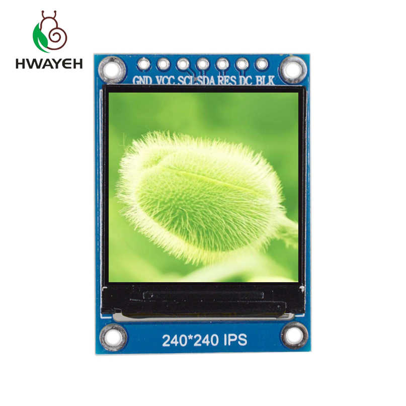1.3 inch 7 pin IPS HD TFT ST7789 Drive IC 240*240 SPI Communication 3.3V Voltage 4Wire SPI Interface Full Color LCD OLED Display