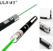 ULIFART Green Laser Lazer Pointer Pen Beam Light Best Quality 532nm 5mw Pen Shaped Lasers Ultra Bright Pen For Teaching Meeting(China)
