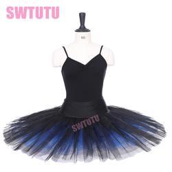 Бесплатная доставка черный синий половина балетная пачка для девочек балетные костюмы BT8923