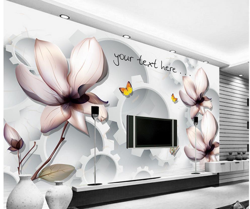 3D TV Wandmalerei Blume Transparent Wasser 3d Stereoskopische Tapete  Dekoration Tapete
