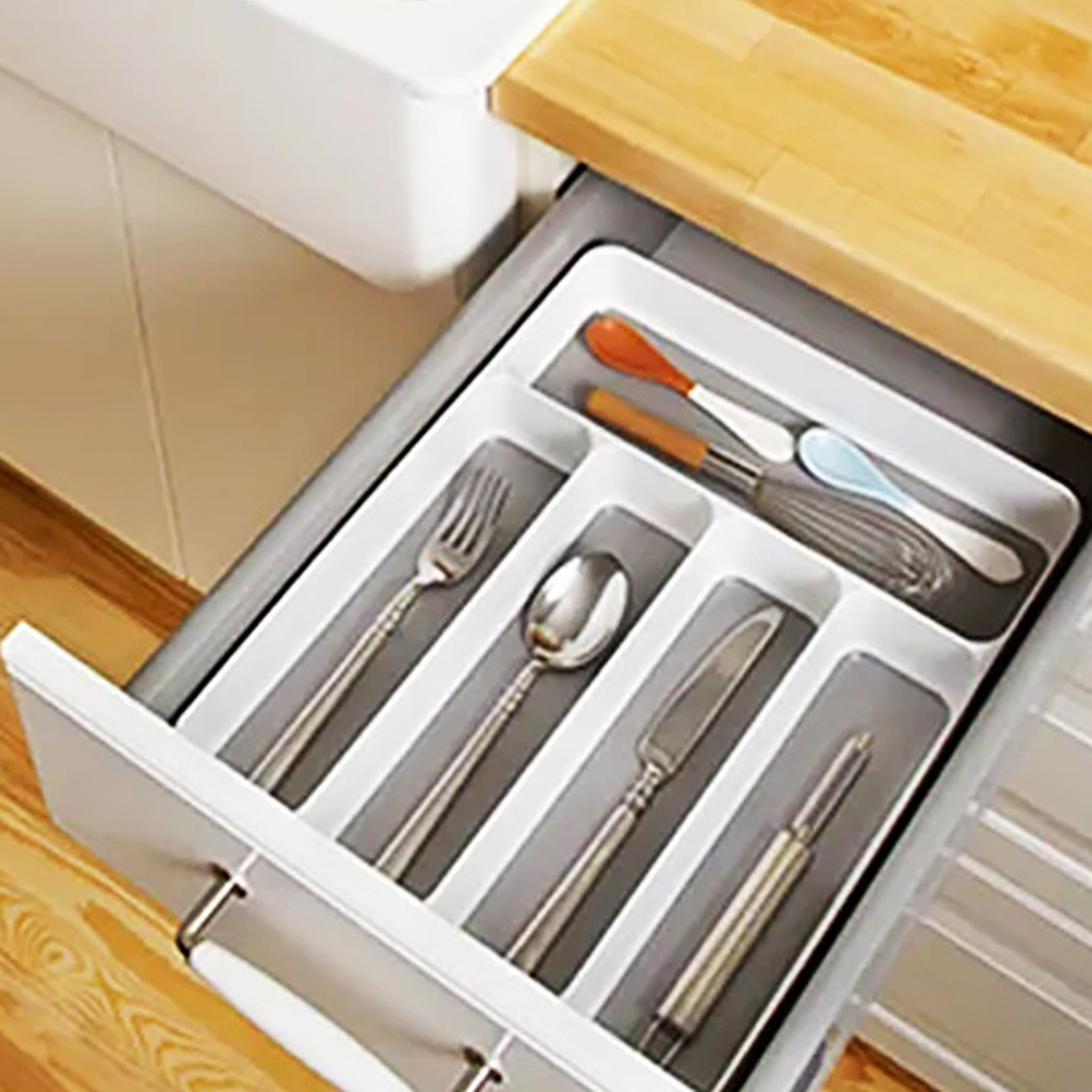 Madesmart 5 Comp Cutlery Tray F Kitchen Knife Spoon Fork Drawer