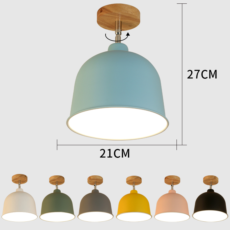 E27 Iron 5W Iron Ceiling Lamp Shade Pendant Light Covers and Shades Triangle Metal Ceiling Lampshades 180 degree turn around cei