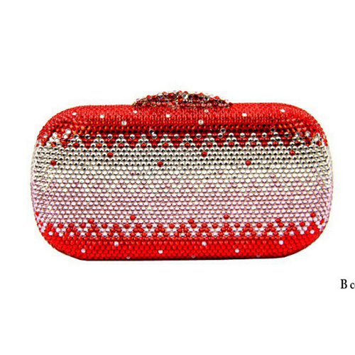 women Sparkling red Diamond Crystal wallet khaki plain Evening clutch Purse Bridal Wedding Handbag Metal Minaudiere Clutch Bag women minaudiere heart crystal lady fashion bridal party night metal evening purse handbag case box clutch bag smyzh f0090