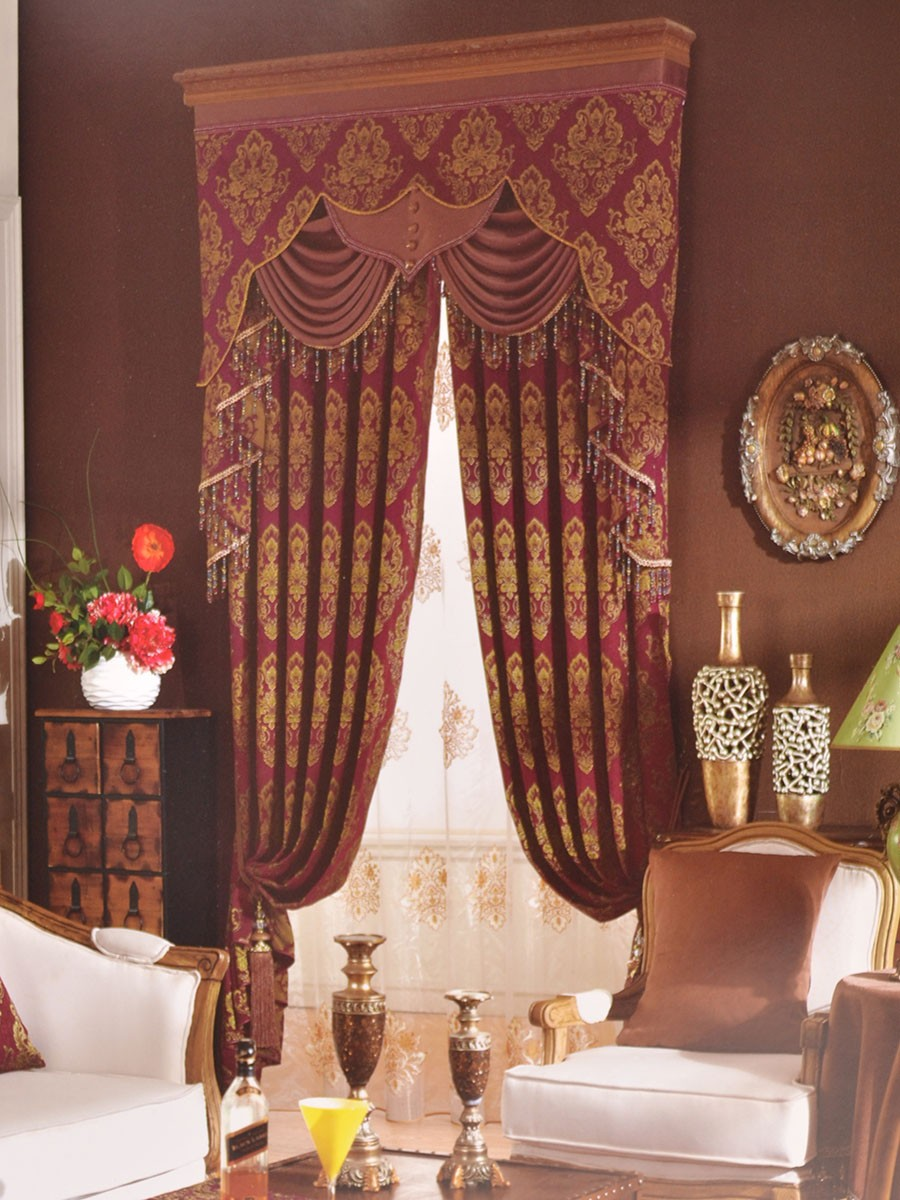 Maroon Curtains For Living Room Popular Ready Made Curtains Valance Buy Cheap Ready Made Curtains