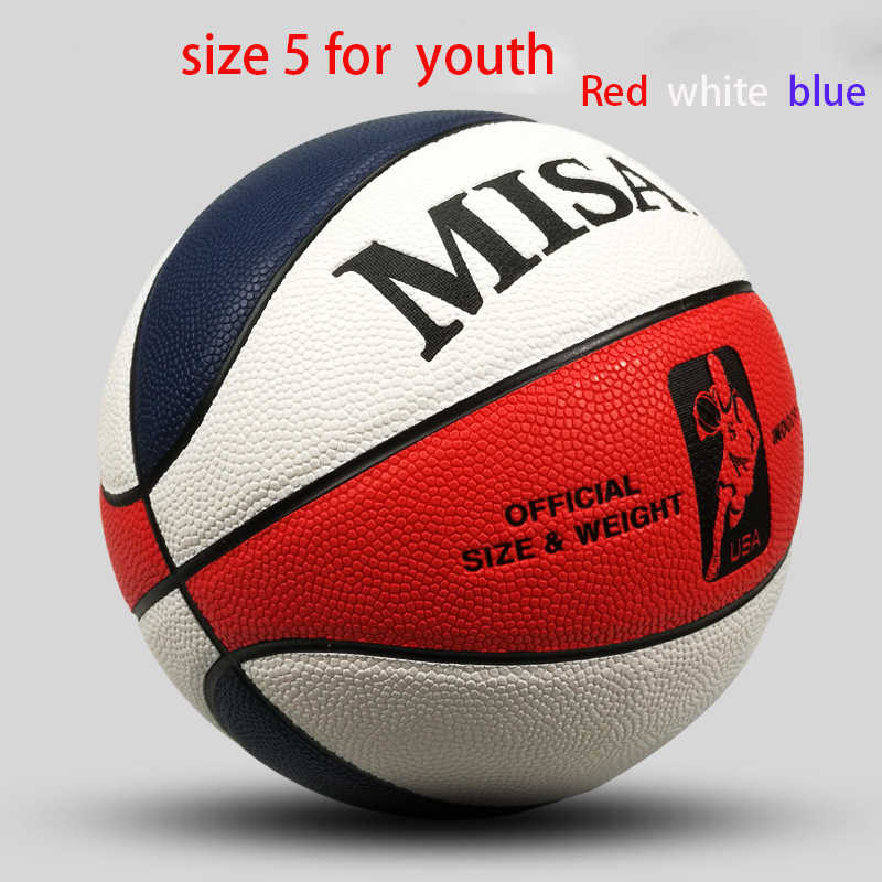 Leather Basketball Ball Official Size  5 Men Women Youth Outdoor & Indoor  Game Basketballs Team Sports