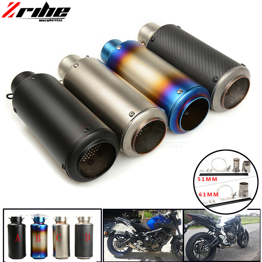 For 36-51 / 61mm Motorcycle Exhaust Pipe Scooter Modified Muffler Pipe Universal For MV Agusta F4 750S 1998-2004 1999 2000 2001