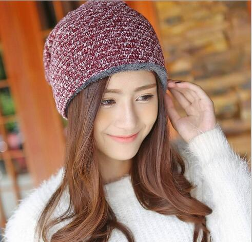 knitted winter warm female hat,rabbit fur beanie cap,woman Chunky Baggy cap Skull,gorros de lana mujer,bonnet femme beanies cap winter women beanie curl all match crochet knitted hiphop hats warm ski hat baggy cap femme en laine homme gorros de lana 62