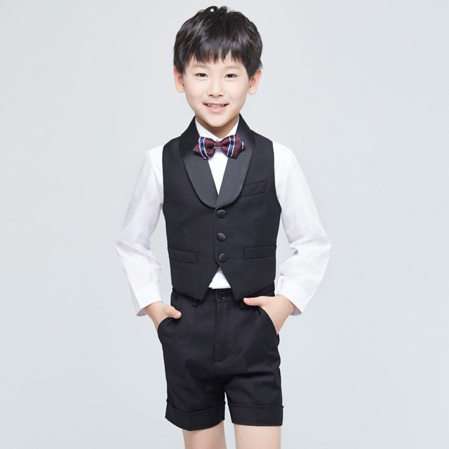 7f76eac6aa709 US $32.33 |CHENLVXIE 2017 New Style Summer Boys Attire For Beach Wedding  Kid Pageant Suit Children Custom Made Shirt + Pants + Tie WE009-in Boys' ...