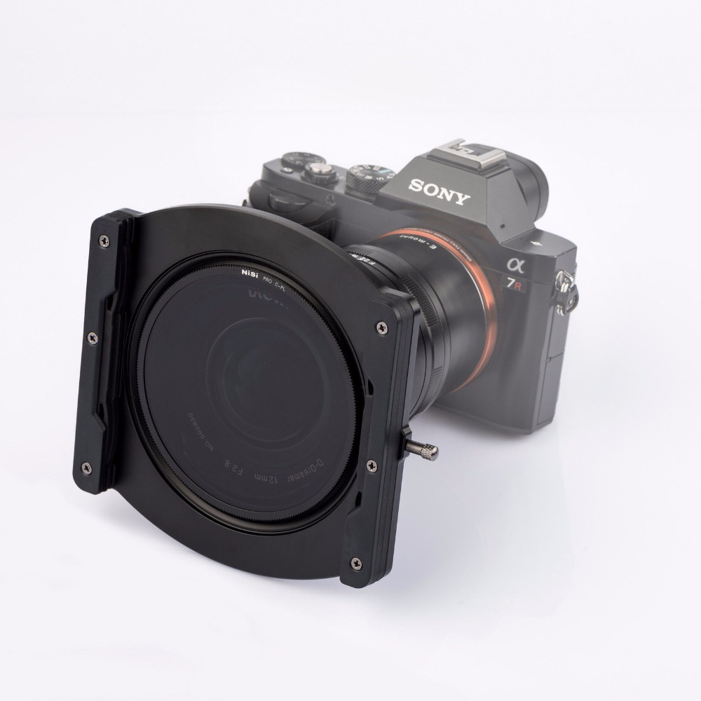 Nisi 100mm Aluminium Filter Holder for Laowa <font><b>12mm</b></font> f/<font><b>2.8</b></font> Lens, with CPL Filter image